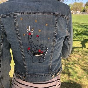 Hand Embroidered Levi's Denim Jacket